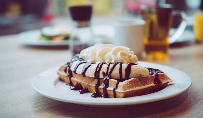 How about a delicious waffle for breakfast?